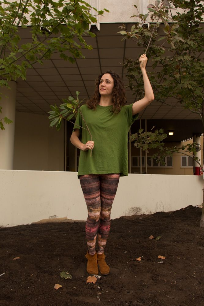 Halloween Leggings LastMinute (But Awesome) Tree Costume