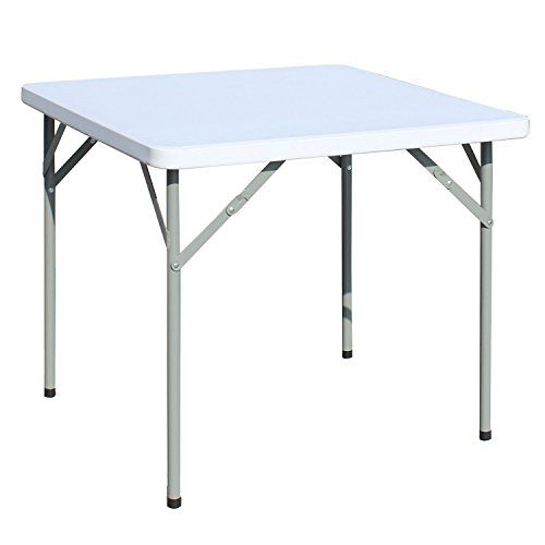 ancheer 3 foot square plastic portable folding utility table for rh pinterest com
