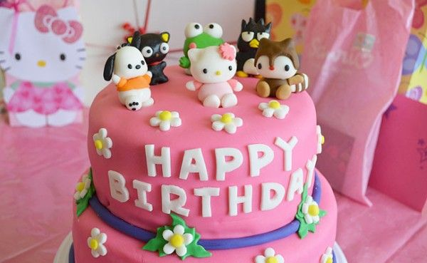 Hello Kitty and Friends Birthday Cake hello kitty Pinterest