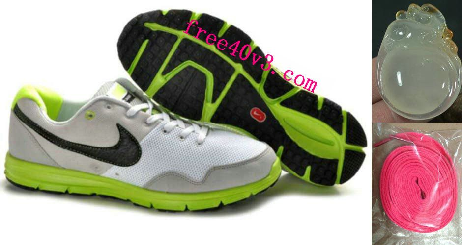 sale retailer 90f64 8810c Mens Nike Lunarfly White Fluorescence Green Shoes