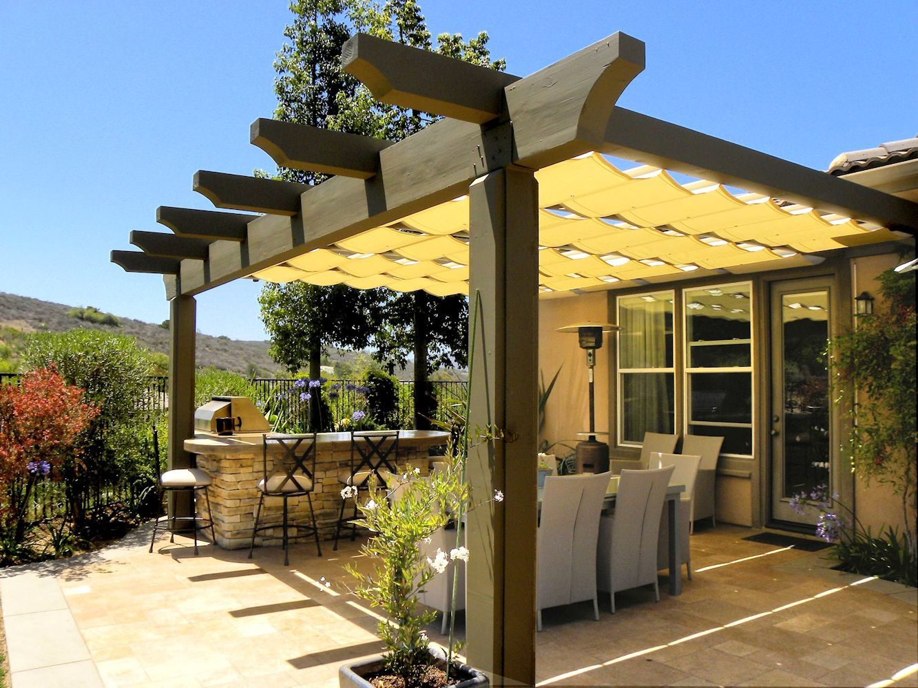 slide wire cable awnings superior awning deck pinterest