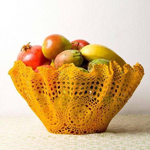 Upcycled crochet bowls by undun on Etsy
