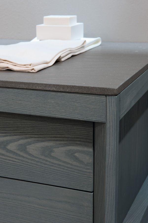 Grey Stain Showing Wood Grain Solid Wood Kitchen