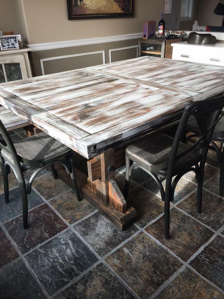 farm table benches wood reclaimed wood custom handmade white rh pinterest com