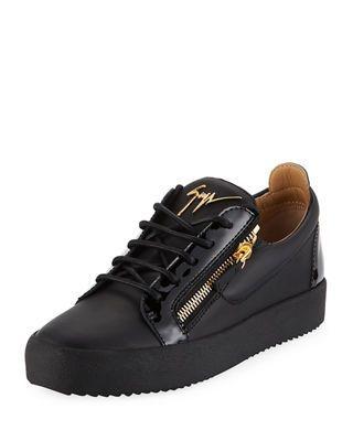 0dd530c65c73 Giuseppe Zanotti Men s London Double-Zip Leather Low-Top Sneaker ...