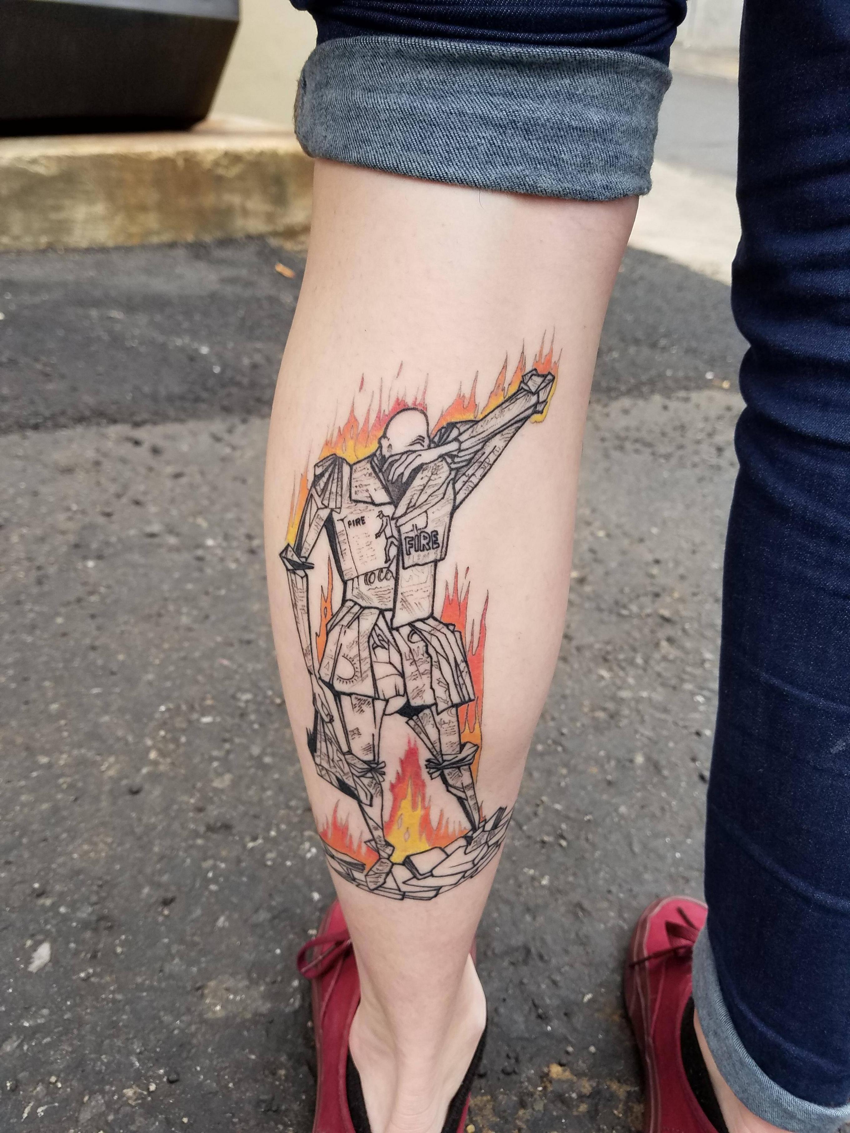Red Rabbit Tattoo : rabbit, tattoo, Fahrenheit, Cover, Image, Rabbit, Tattoo, Asheville, Tattoos,