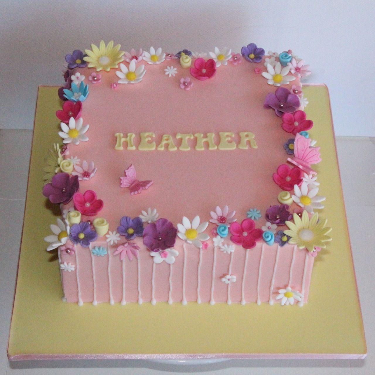 pretty cakes coco jo cake design flower garden cake - Garden Design Birthday Cake