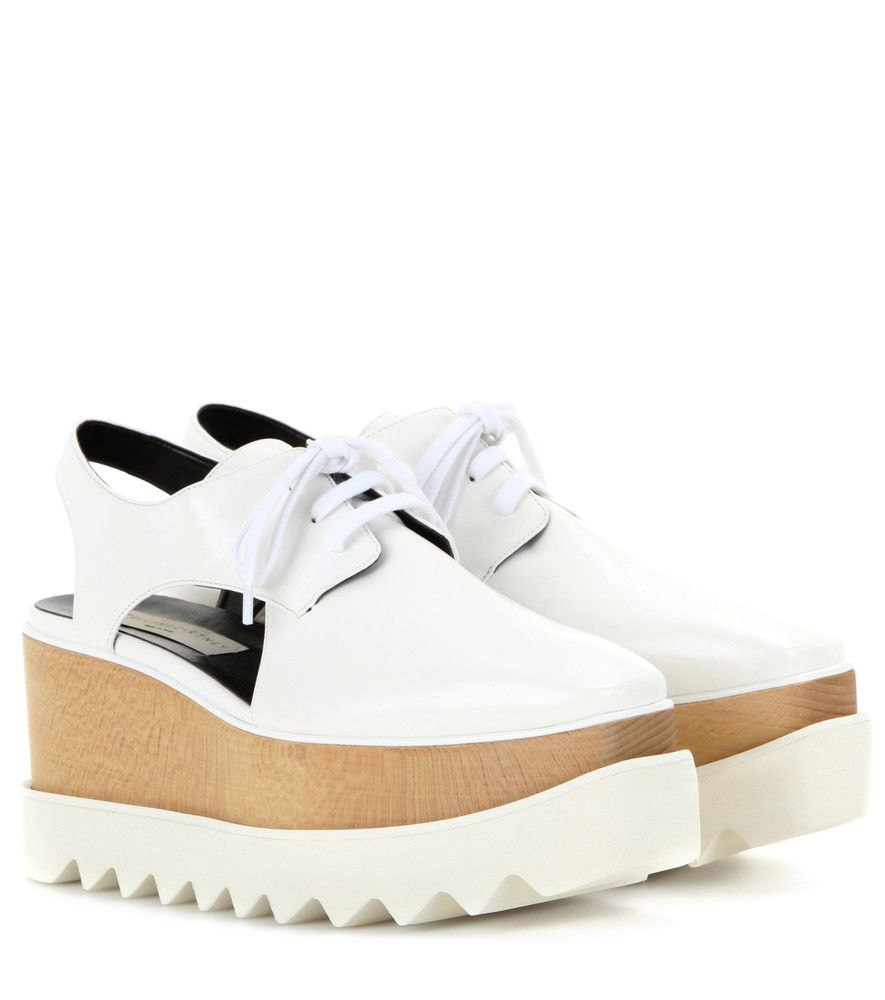 Stella McCartney Elyse cut-out derby shoes SqeBX