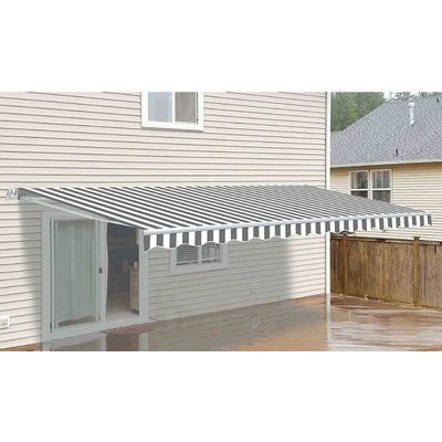 Aleko 12ft W X 10ft D Retractable Patio Awning Patio Flooring Windows Doors Patio
