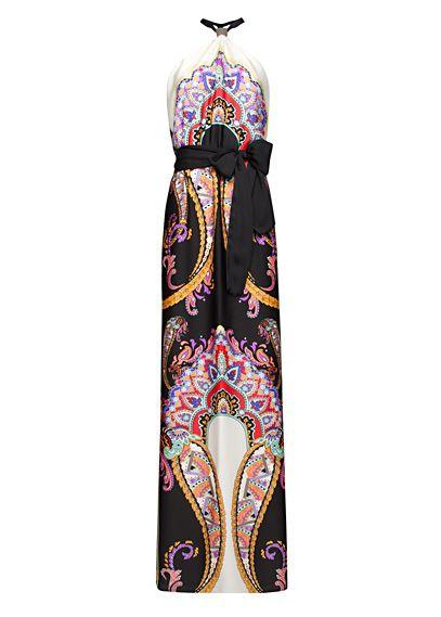 MANGO - Maxi-vestido estampado pañuelo