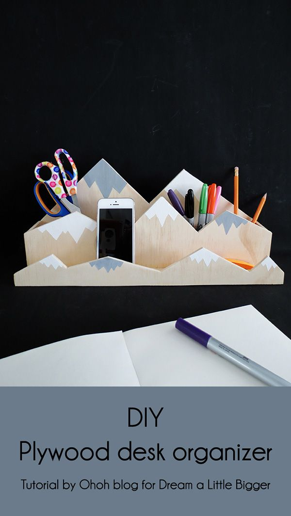 20 DIY Desk Organizers To Keep Your