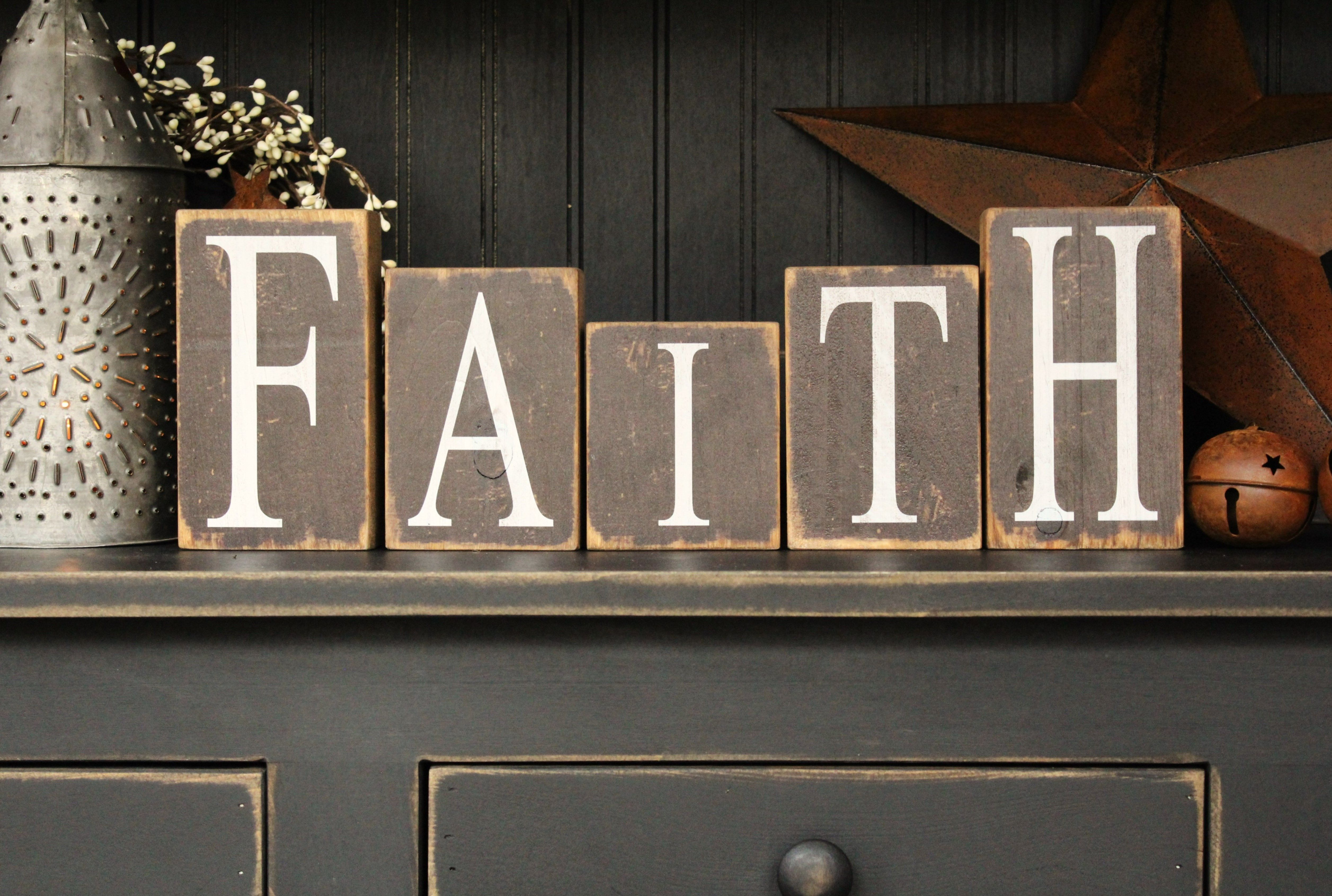 Faith Blocks ~The Rustic Sign also could do Family