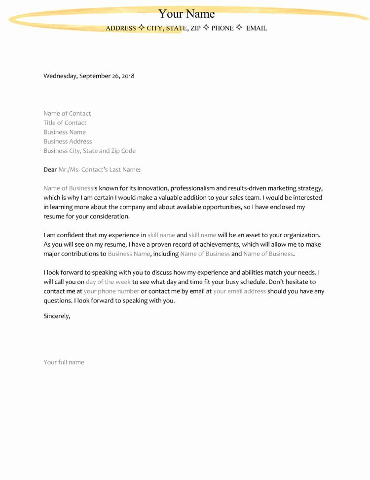 40 Template For Letter Of Interest In 2020 With Images Letter