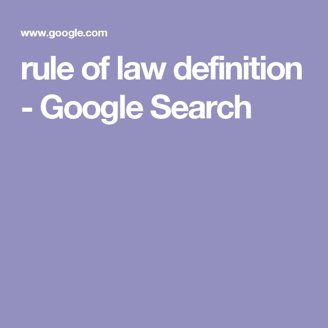 rule of law definition - Google Search