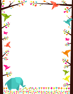 Origami Border | Marcs | Pinterest | Rahmen