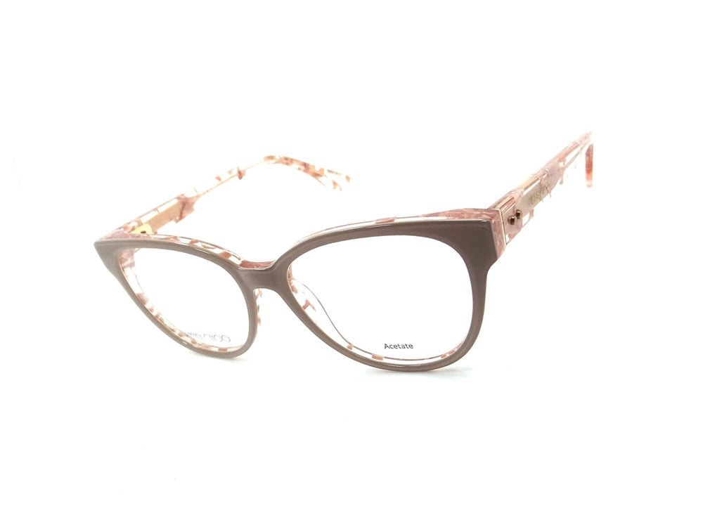 6376889a3ec Jimmy Choo Rx Eyeglasses Frames JC 141 J42 51-16-140 Nude Spotted Made in  Italy