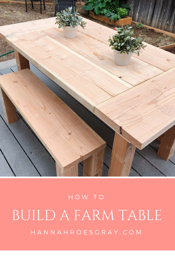 farmhouse table plan hannah rose gray lifestyle ideas pinterest rh pinterest com