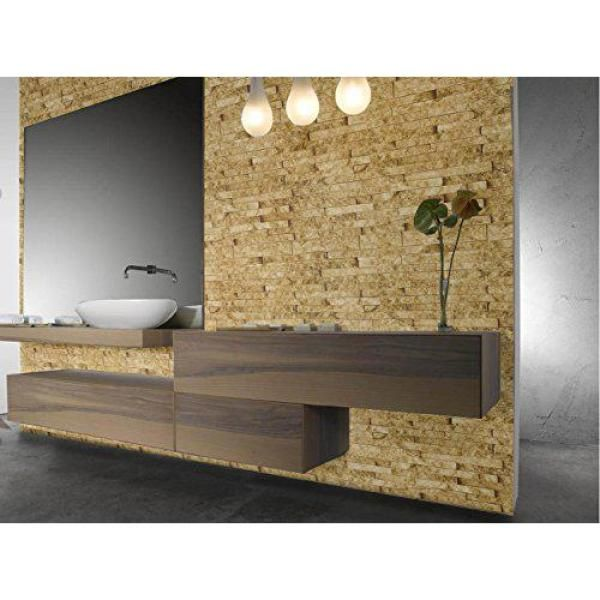 Decowall Montecarlo Gold Brick Spaccato Peel and Stick 3D
