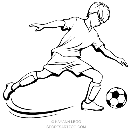Soccer Boy Kicking Sportsartzoo Soccer Boys Football Drawing Football Player Drawing