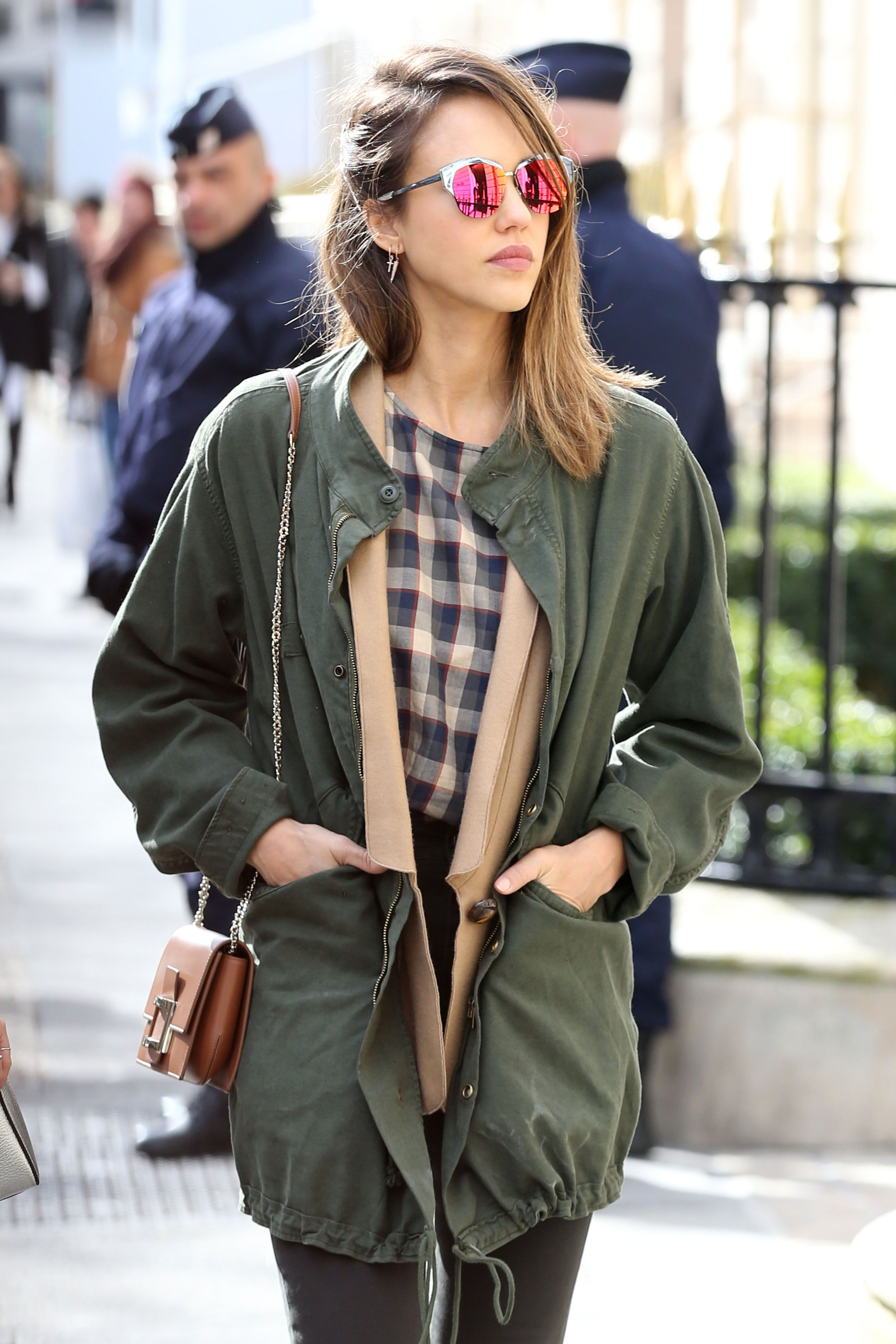 Jessica Alba out and about Paris during FW16 Fashion Week