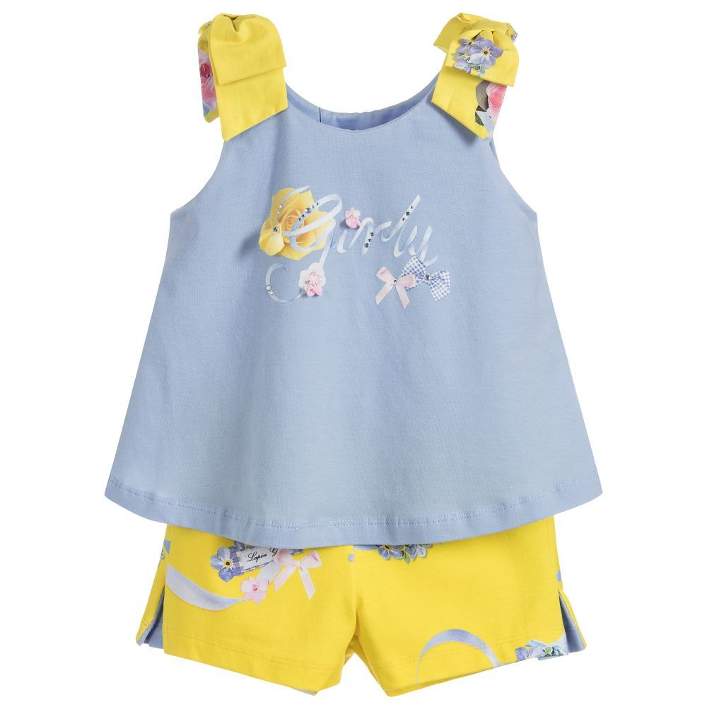 732617b04a0b85 Girls blue top with sparkly  girly  logo