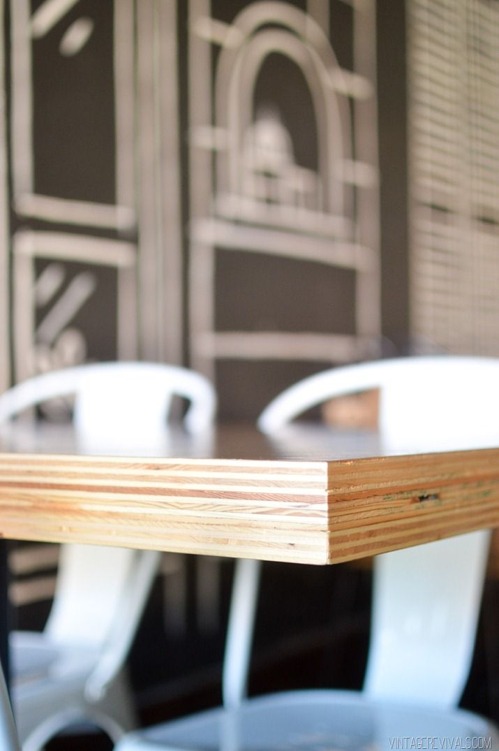 Diy Stacked Plywood Tables Plywood Table Diy Table Top Plywood Kitchen