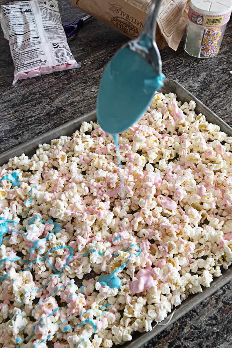 Unicorn Popcorn  A Tasty Treat! - Unicorn party food, Unicorn birthday party decorations, Unicorn birthday parties, Unicorn themed birthday, Unicorn themed birthday party, Unicorn birthday - Unicorn Popcorn is a tasty treat is super simple to make and only takes 2 ingredients! Make it for your next party, movie night, or just because