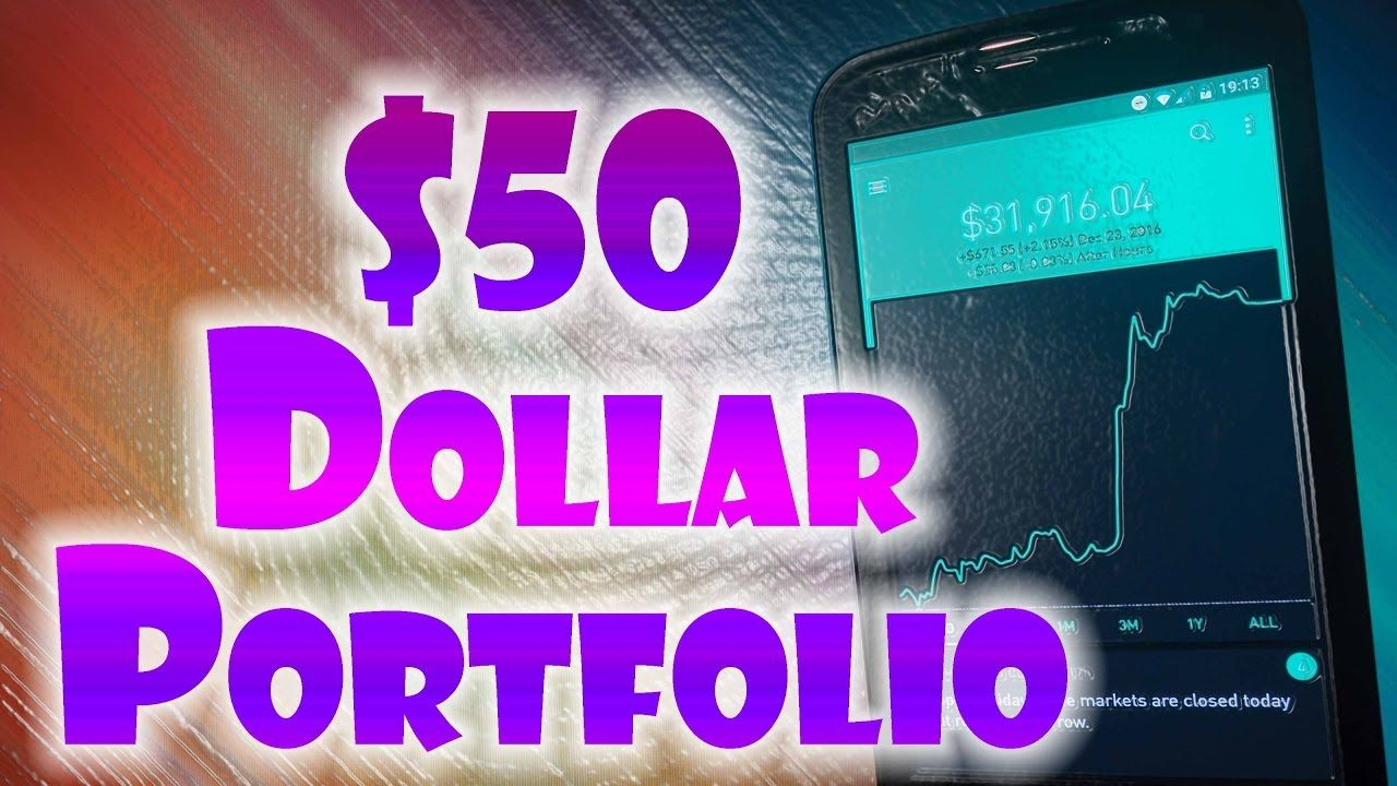 Robinhood APP 50 Dollar NEW INVESTOR Portfolio