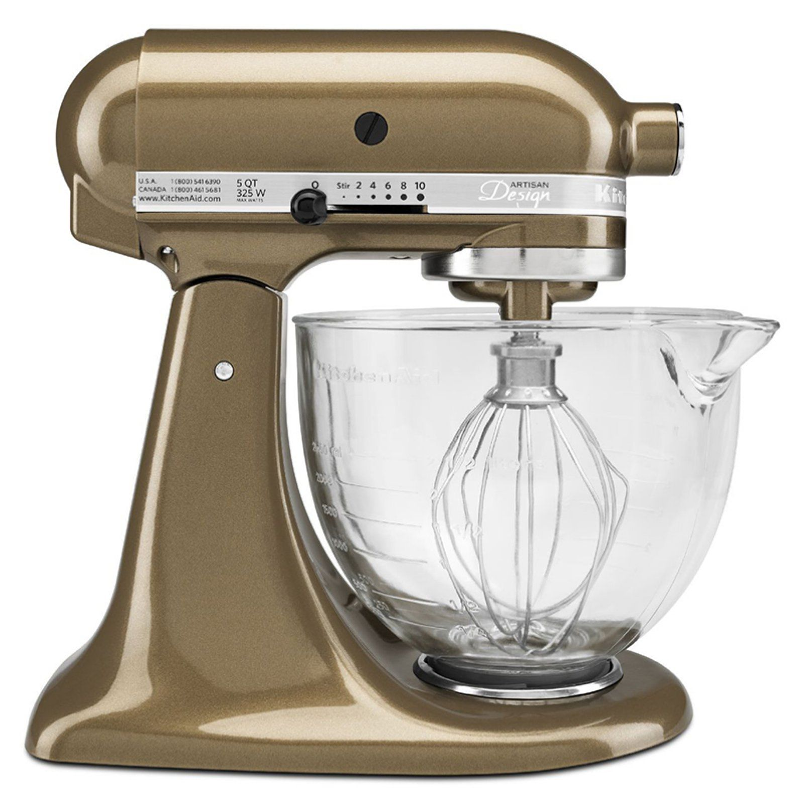 kitchenaid ksm155gbtf 5 qt artisan series stand mixer with glass rh pinterest com