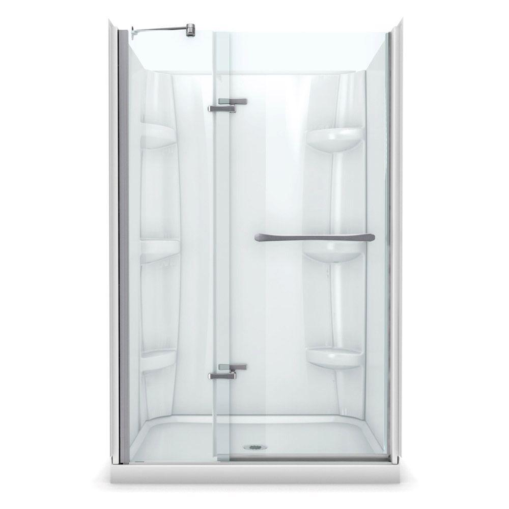 Maax Reveal 32 In X 48 In X 76 1 2 In Alcove Standard Shower