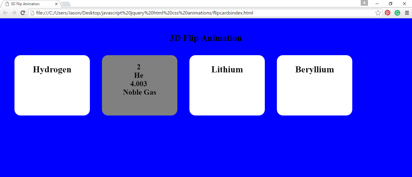 3D Flip Animation: Pure HTML5 And CSS3 Source Code & Demo