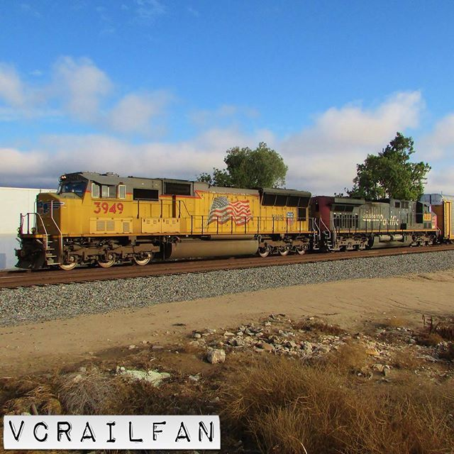 3949 and 6227  #unionpacific #up #uprr #southernpacific #sp #sprr #sd70m #ac44cw #up3949 #up6227 #train #trains #railfan #railfanning #railfannation #arailfanslife #wearerailfans #rsa_theyards #prf_shots #locos_of_america #north_american_rail_pictures #daily_crossing #pocket_rail #trb_express #trb_members1 #railroads_of_america #train_nerds #trains_worldwide by vcrailfan