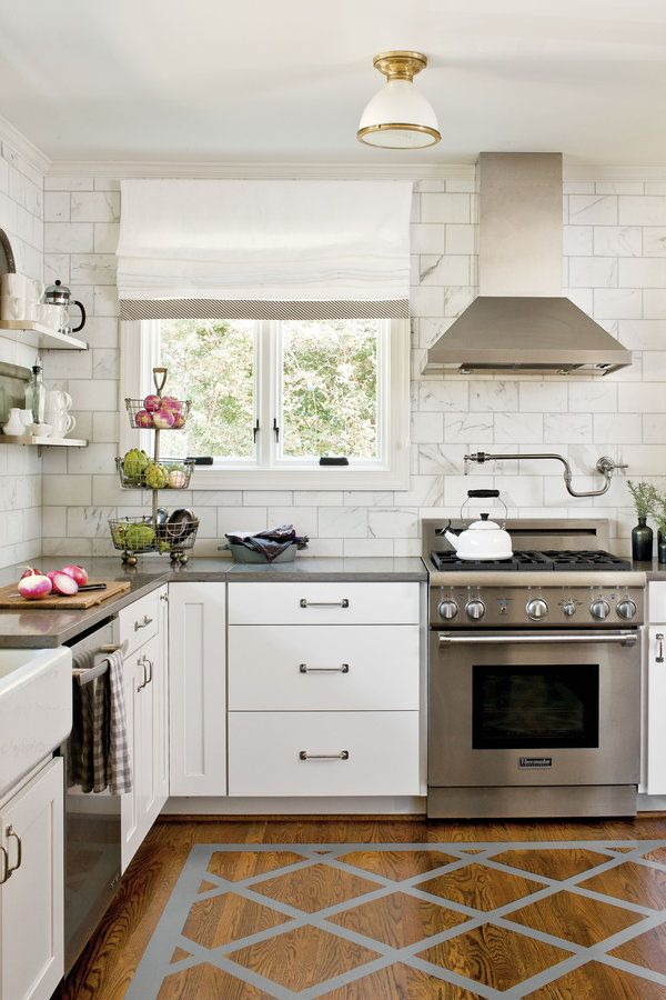 Crisp Classic White Kitchen Cabinets Painted Kitchen Floors