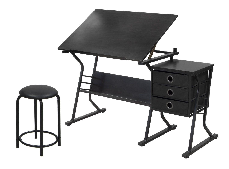 Admirable Amazon Com Studio Designs Eclipse Craft Center In Black Bralicious Painted Fabric Chair Ideas Braliciousco