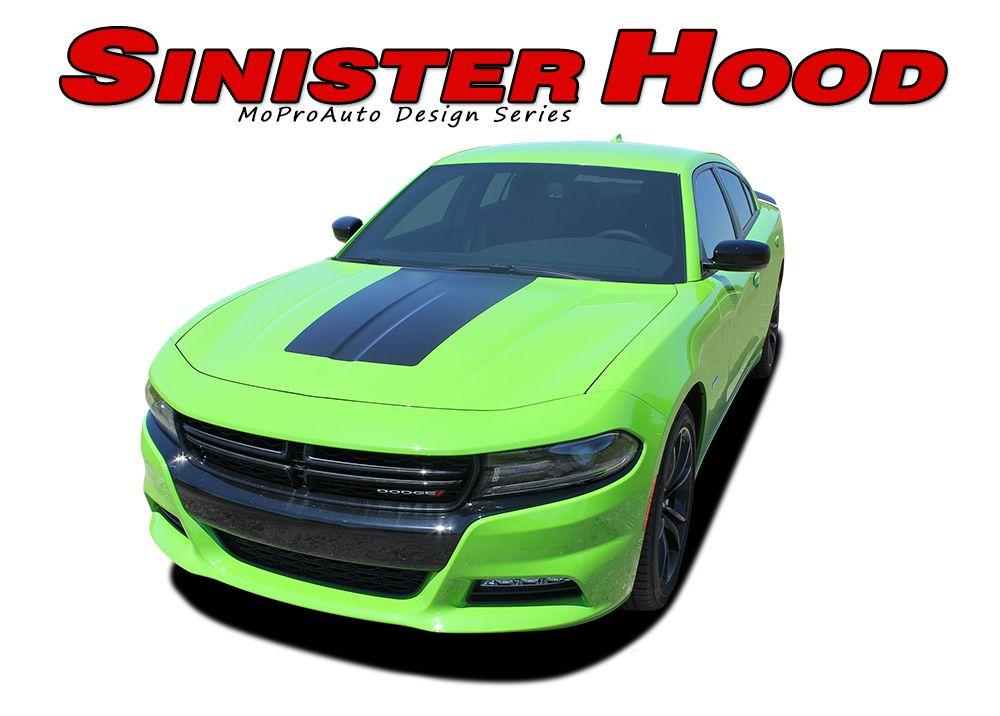 sinister hood dodge charger hood decal daytona hemi srt 392 center rh pinterest com