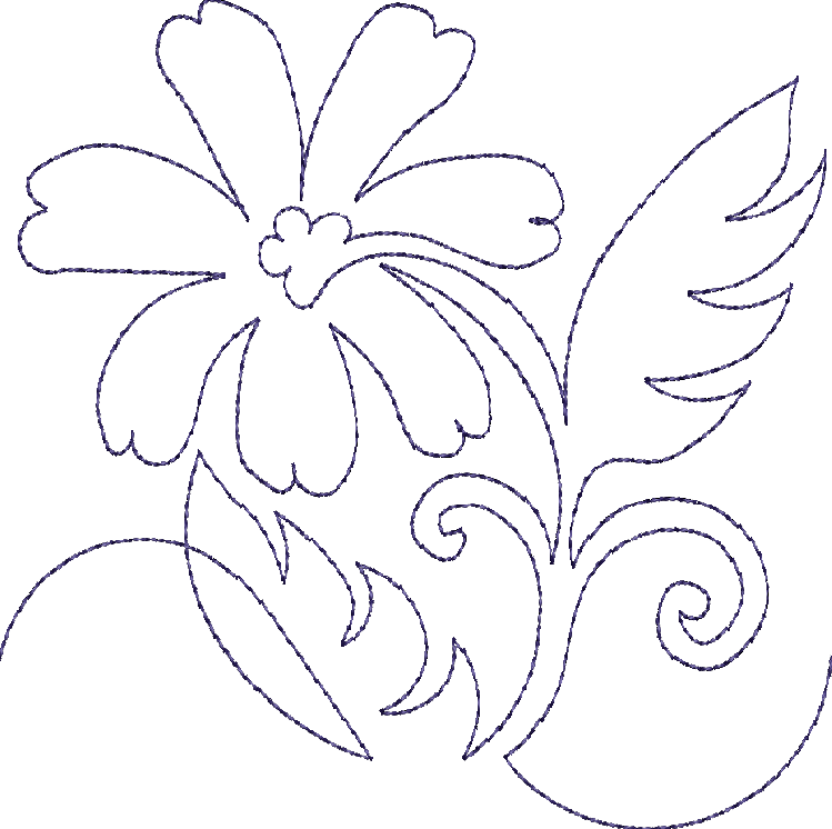 Quilting Line Templates : Continuous Single Line Quilting Flowers - Machine Embroidery Designs at Splinters & Threads ...