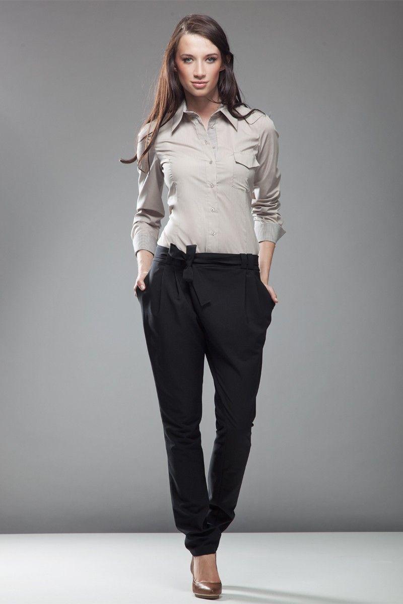 pantalon asym trique coupe carotte noir best sellers mademoiselle grenade. Black Bedroom Furniture Sets. Home Design Ideas