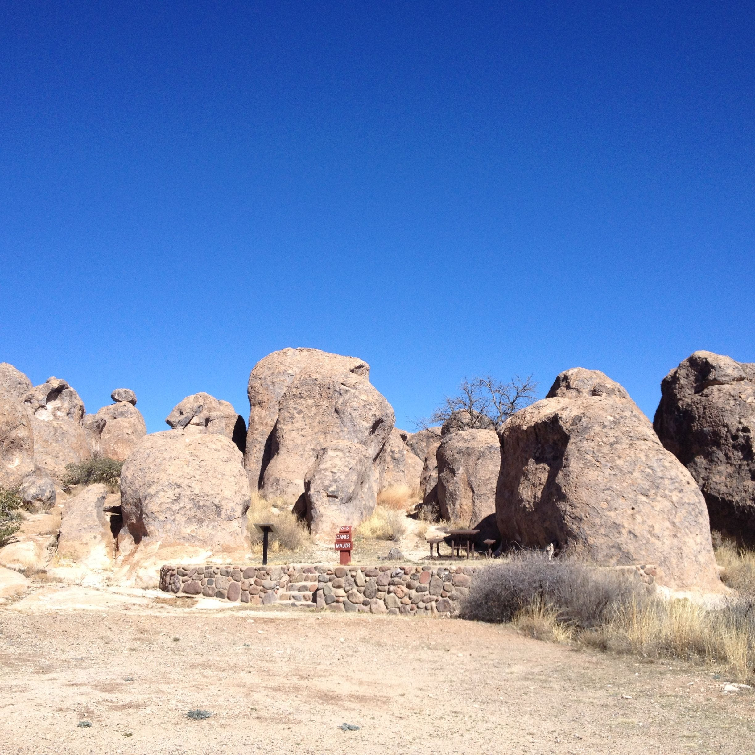 Picnic sites in amongst the rocks