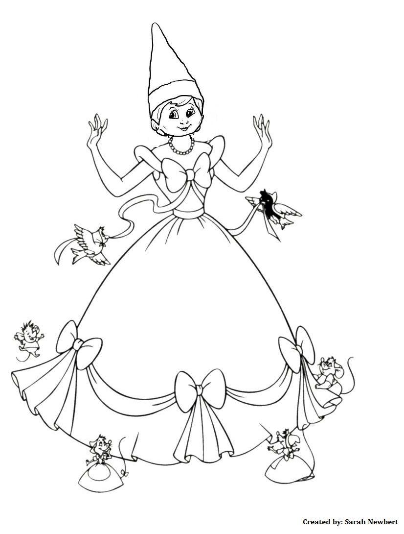 Cindi Elf Girl Elf Coloring Pages Elf