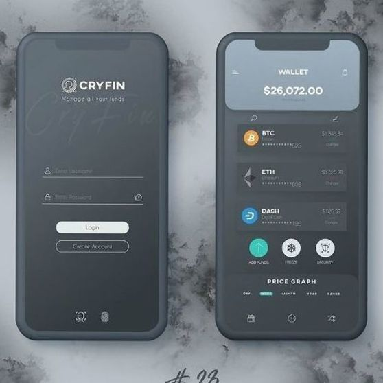 Cryptocurrency app concept #ui #uidesign