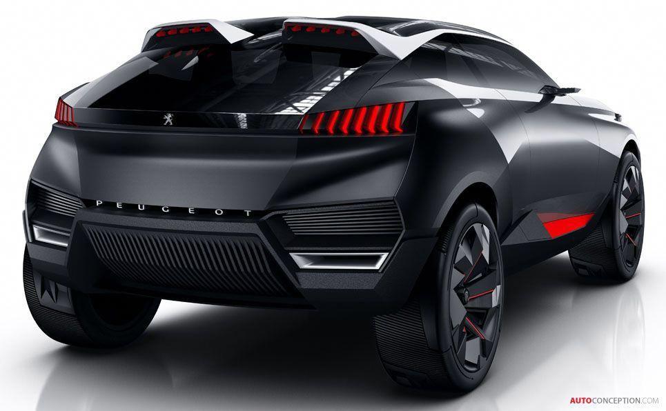 peugeot reveals new hybrid suv concept autoconception com rh pinterest com