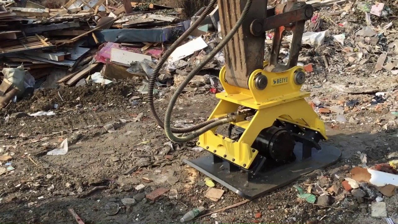 Beiyi Plate Compactor Prices Hydraulic Vibro Compactor Bykc03 For Excavator Compactor Excavator Hydraulic