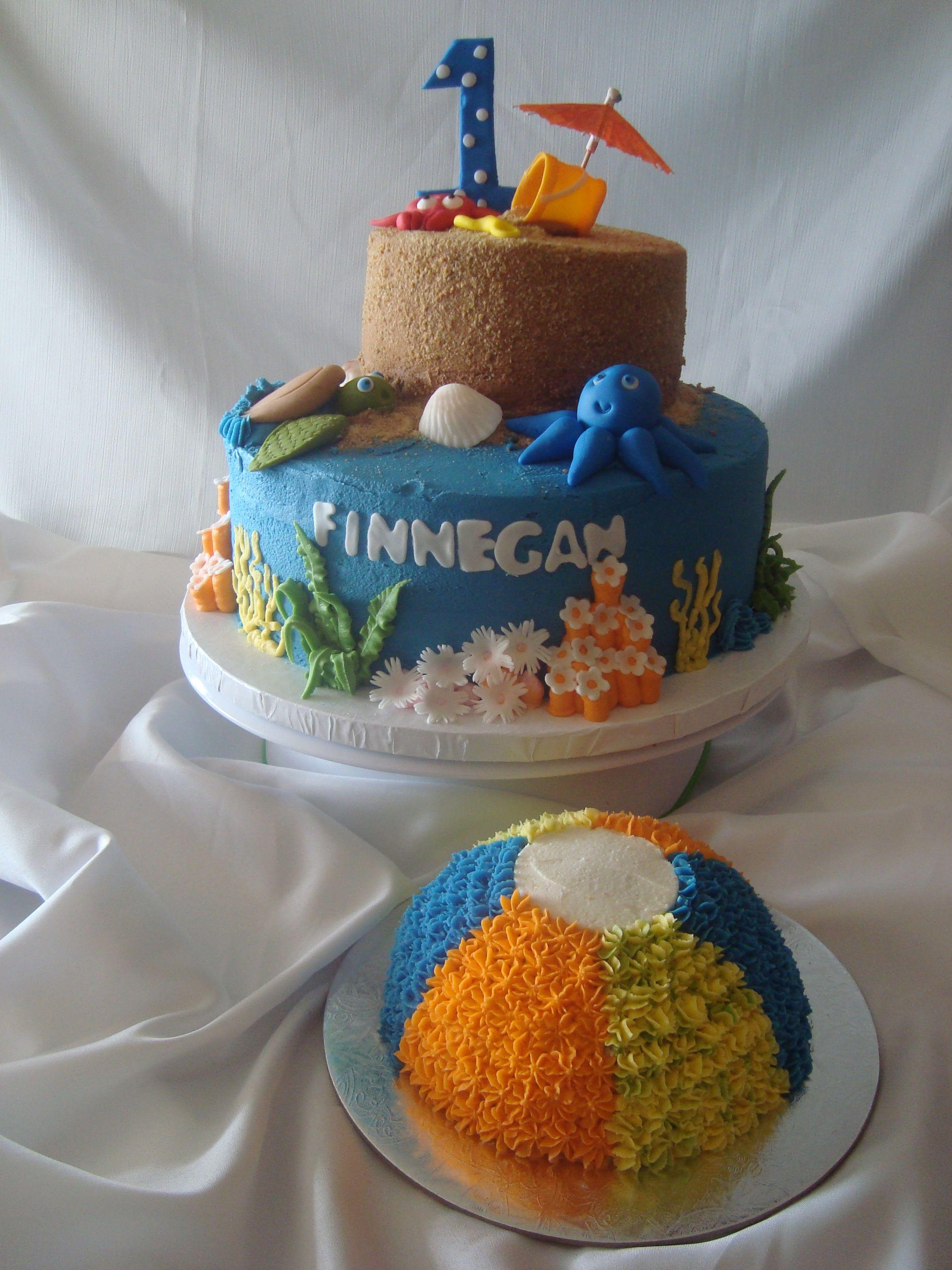 Kids Beach Theme Birthday Cake Beach Themed Cakes Birthday Cake