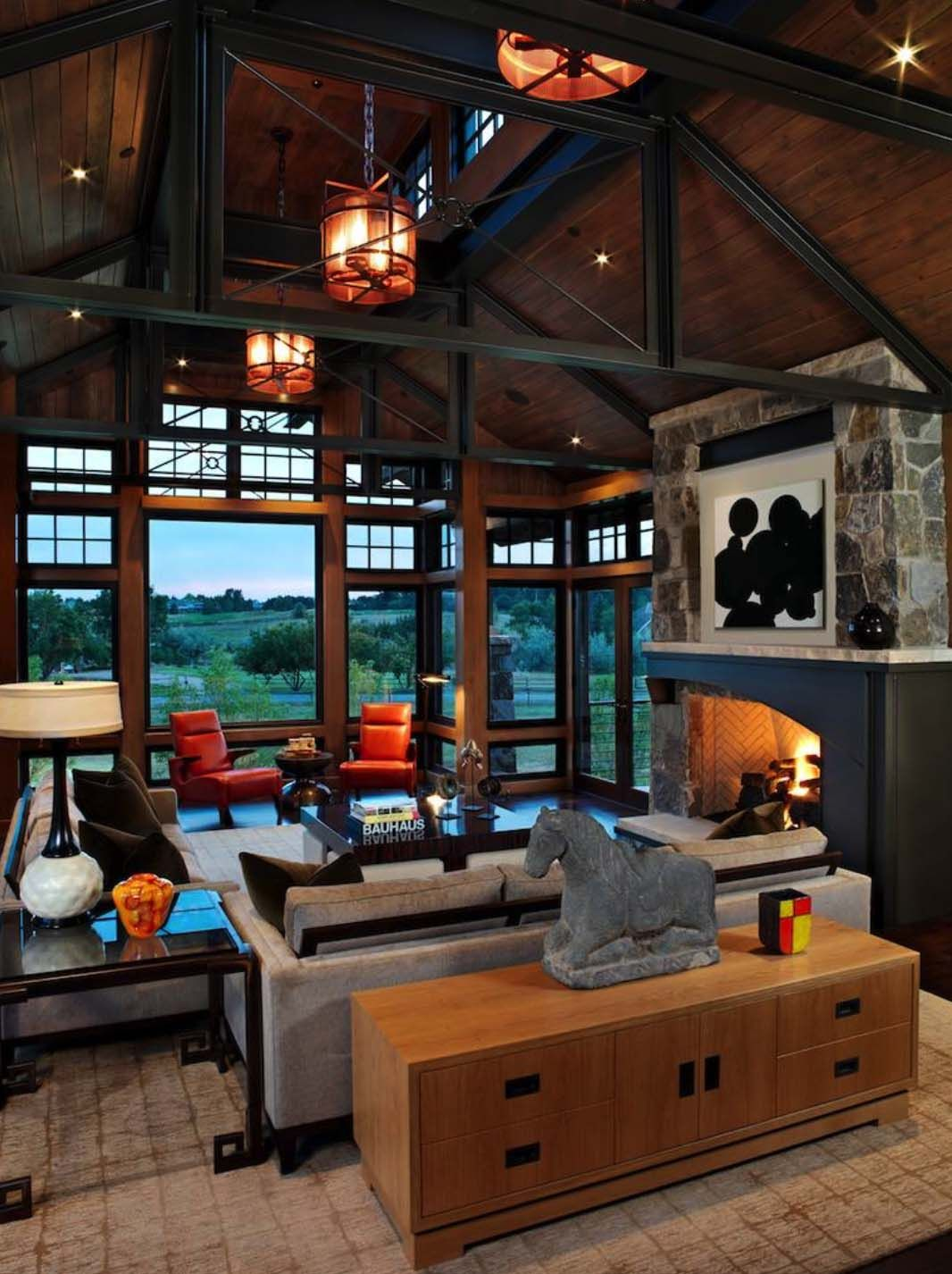 rustic colorado mountain home offers refined contemporary interiors rh pinterest cl