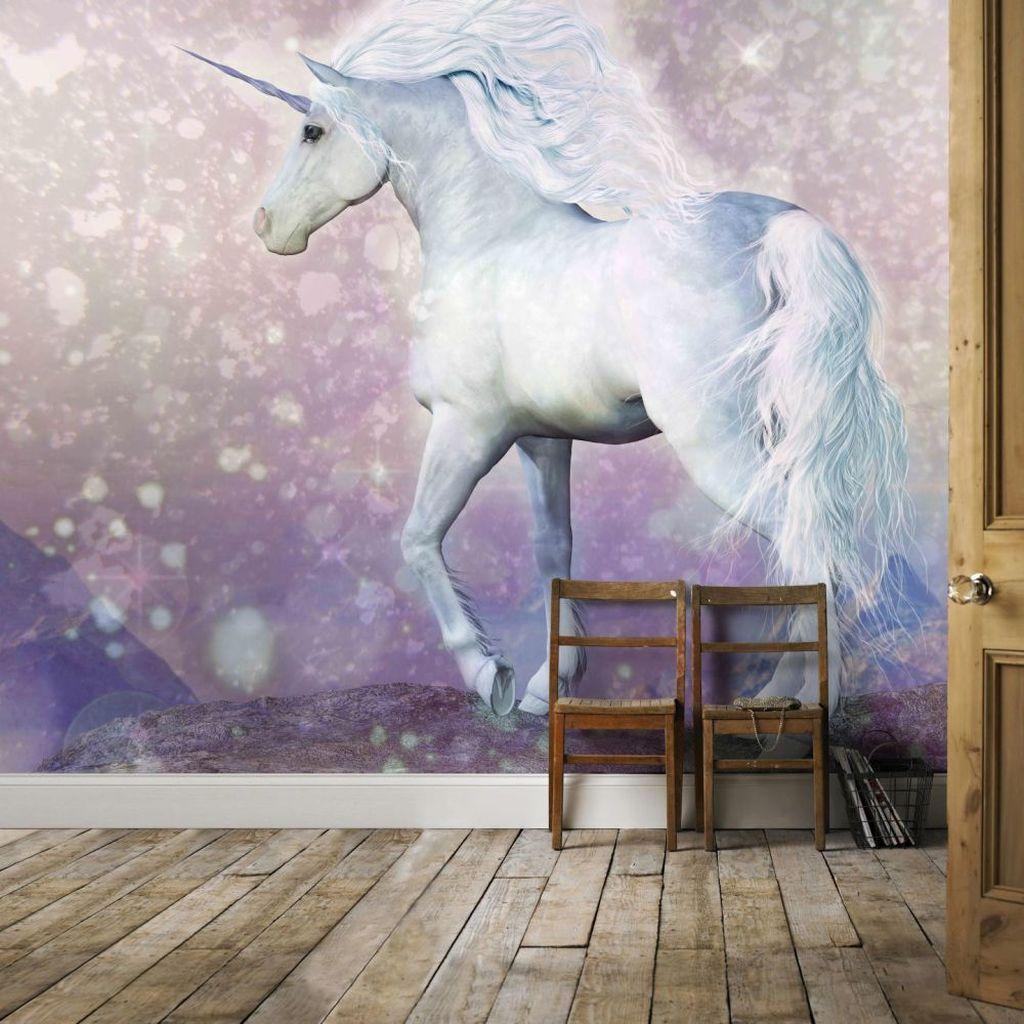 Magical Unicorn /& Foal  Wall Mural Fantasy Photo Wallpaper Girls Bedroom Decor