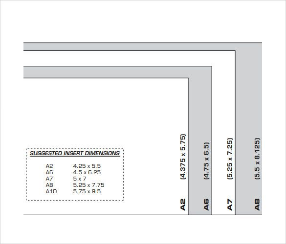 a7 envelope sizes chart template envelope liners pinterest