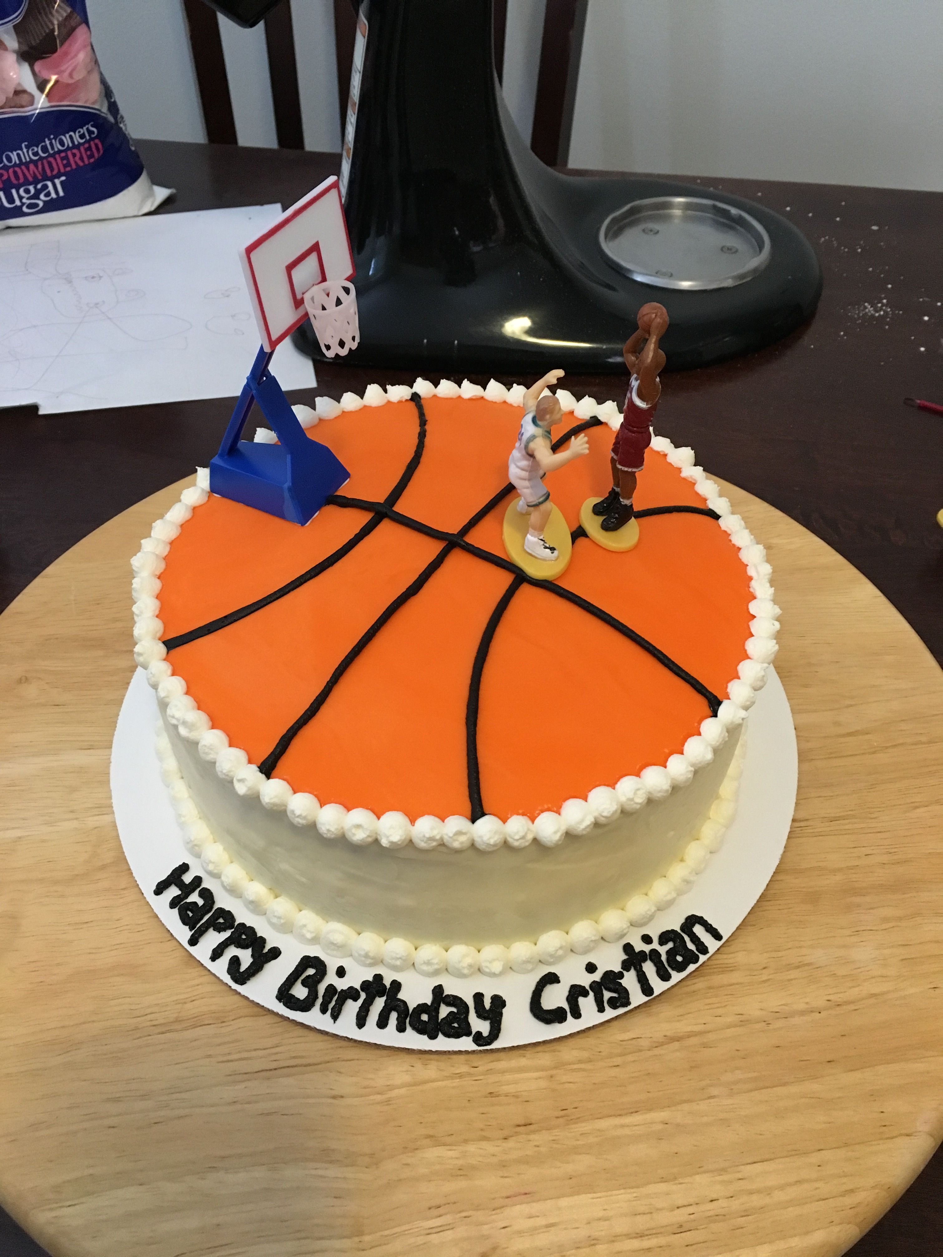 Basketball Cake With Images Tiered Cakes Birthday Cake
