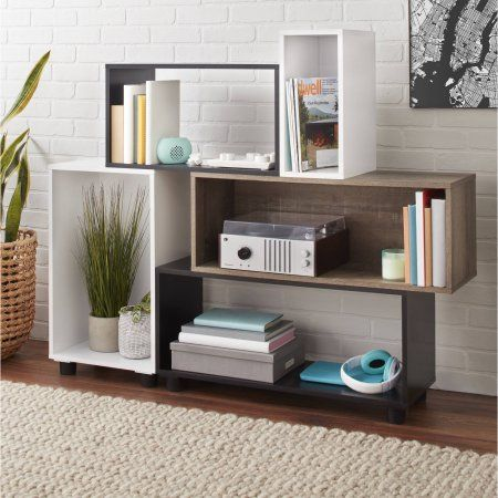 mainstays stack storage shelf unit in 2019 home decor storage rh pinterest com