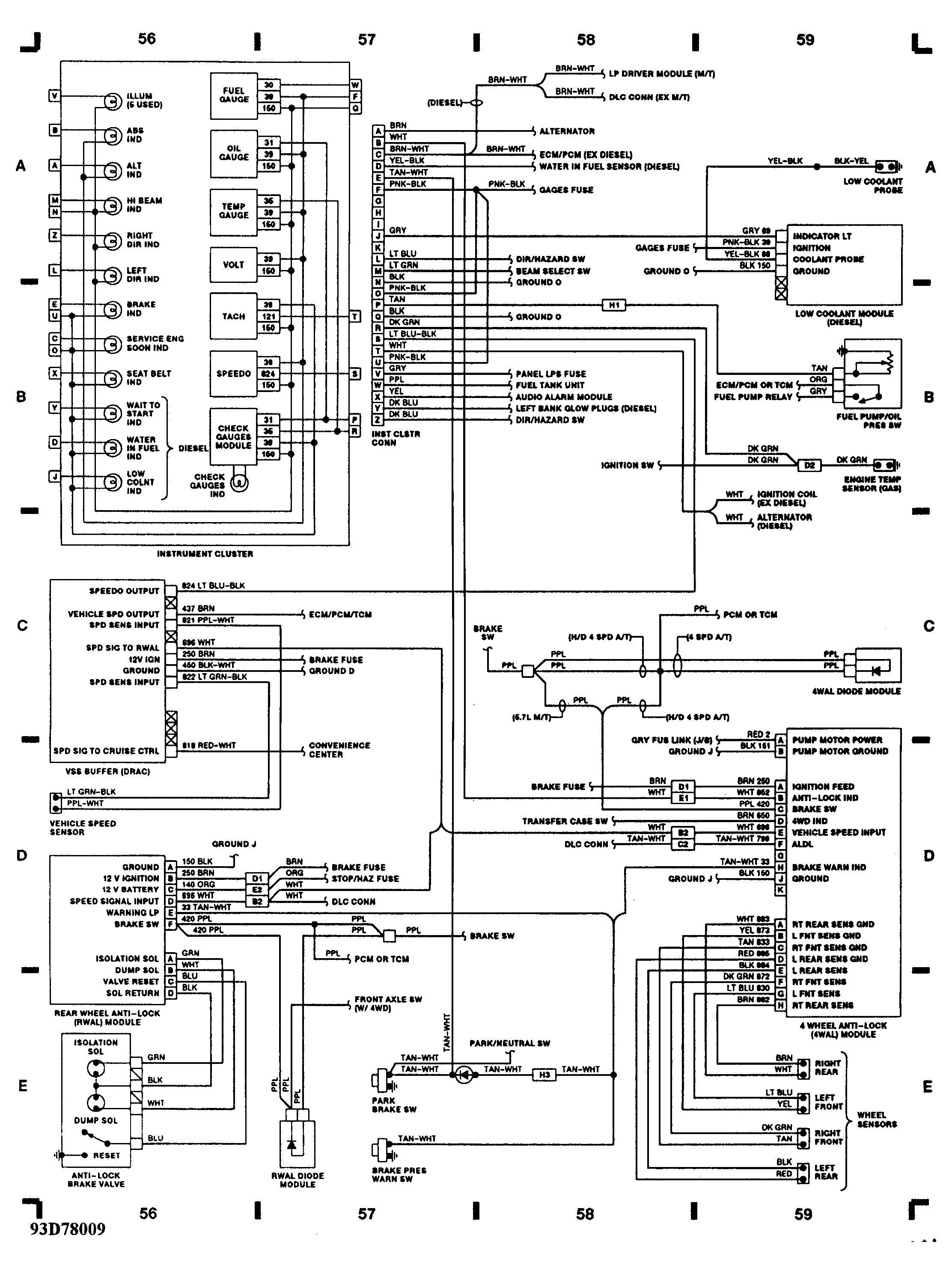93 Dodge W250 Wiring Diagram