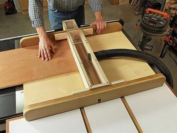 this reader made his own dust shroud for his crosscut sled keeping rh pinterest com